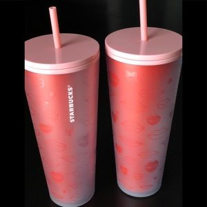 Lips tumbler - Frosted Soft Touch ombre